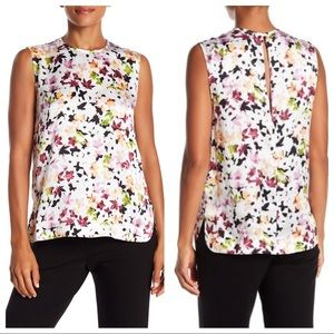 EQUIPMENT | Kyle Floral Silk Tank